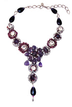 Load image into Gallery viewer, Amethyst Tourmaline Swarovski Crystals Necklace