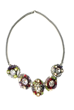 Load image into Gallery viewer, SALE - Claire Swarovski Crystals Semiprecious Stone Pearl Necklace