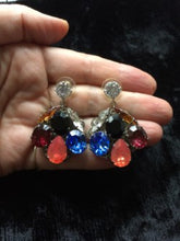 Load image into Gallery viewer, SALE - Sofia Swarovski Crystals Cluster Earrings