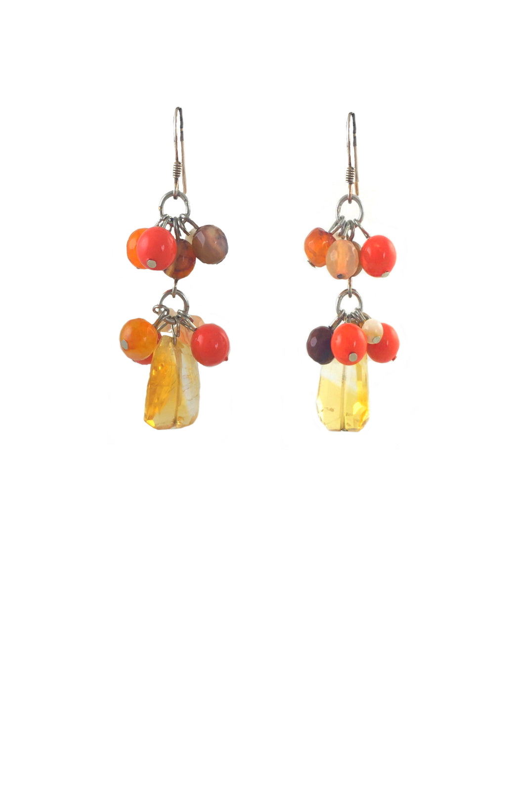 SALE - Citrine Nina Agate Earrings