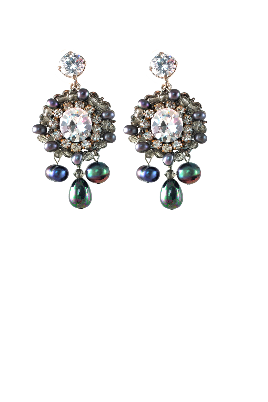 Broadway Pearls and Swarovski Crystals Earrings