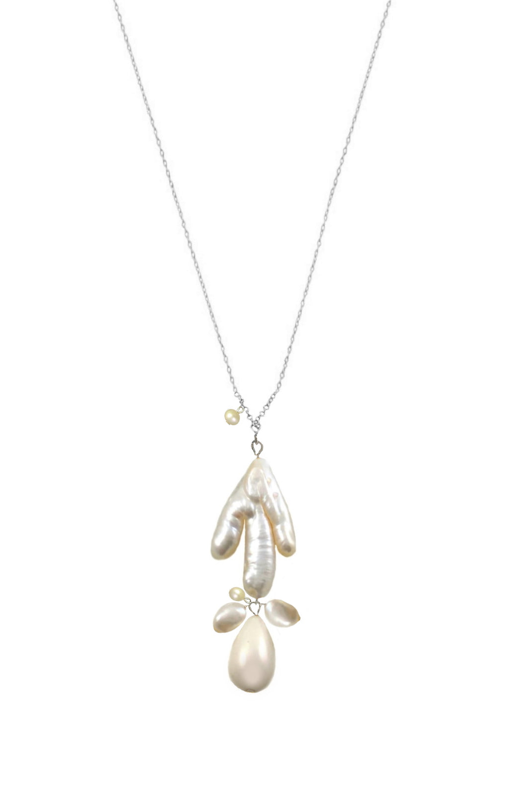 SALE - Pearls  Sofia  Necklaces in Gold and Silver