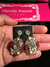Load image into Gallery viewer, SALE - Claire Swarovski Crystals, Semiprecious Stones and  Pearl Earrings