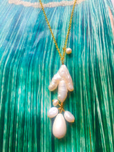 Load image into Gallery viewer, SALE - Pearls  Sofia  Necklaces in Gold and Silver