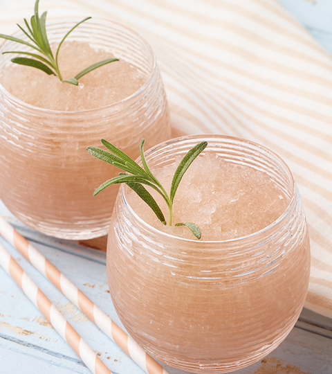Matcha, Pink Grapefruit And Rosemary-Infused Slushy