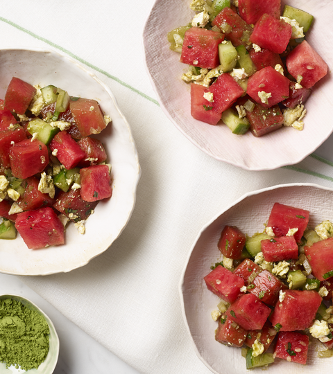 Watermelon, Cucumber And Matcha Salad