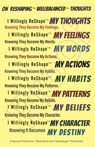 On ReShaping™ WellBalanced™ Thoughts Poster - Inspirational Poster - Positive Wall Art - Self-Affirmative Poster - Positive Thought Poster