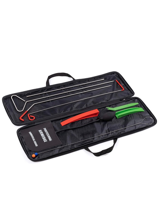 EmergencyAutoTools Universal Car Tool Kit | 9 Piece Vehicle Auto Emergency Tool Set | Long Reach Grabber, Air Wedge Pump | Non-marring Wedges | Pry Tool | Carrying Case Bag