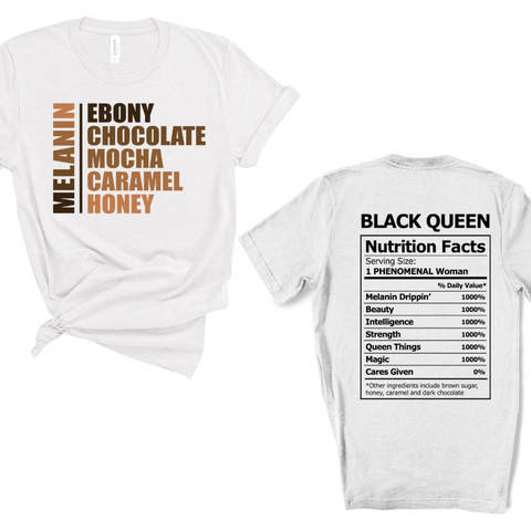 What black women are made of unisex shirt front and back design