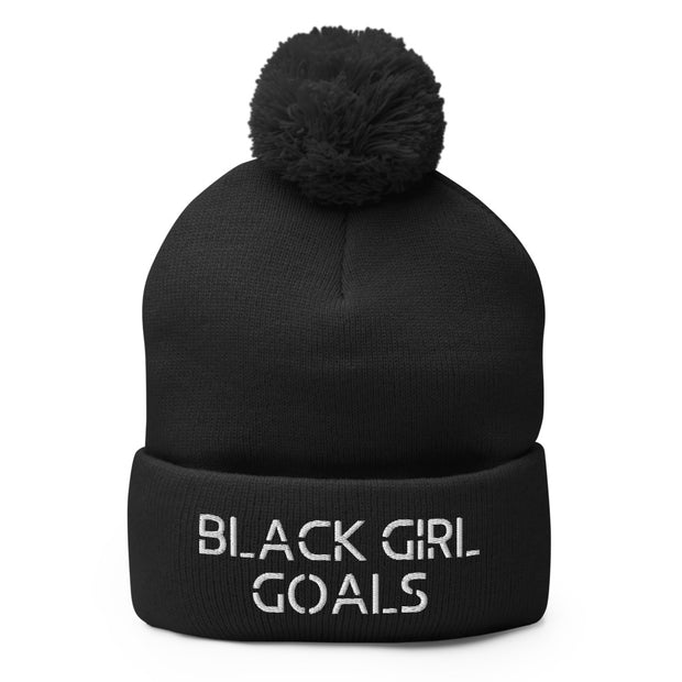 Black Girl Goals Pom-Pom Beanie