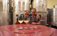 Tasting the wines still maturation