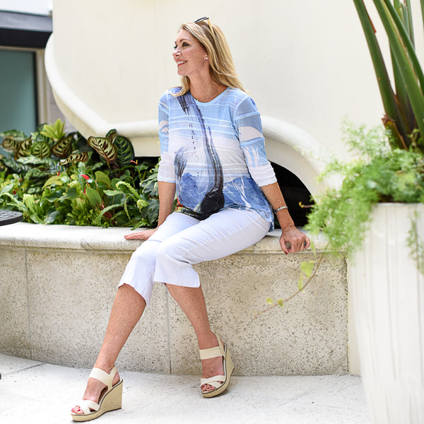 Labor Day Styles with Touches of Blue