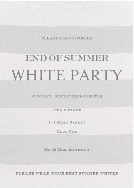 Prepping for Your End of Summer White Party