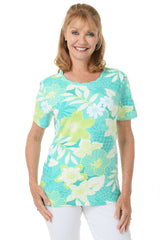 Alfred Dunner Tropical Knit Tee