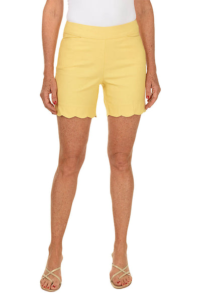 Pull-On Stretch Scallop Short