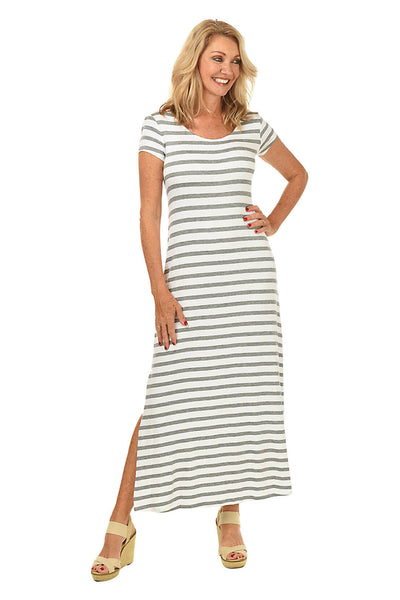 Striped Maxi Dress BY: CABLE AND GAUGE