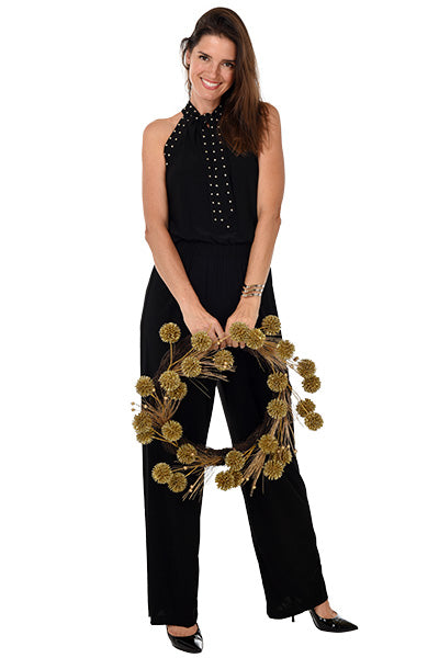 Studded Sleeveless Jumpsuit