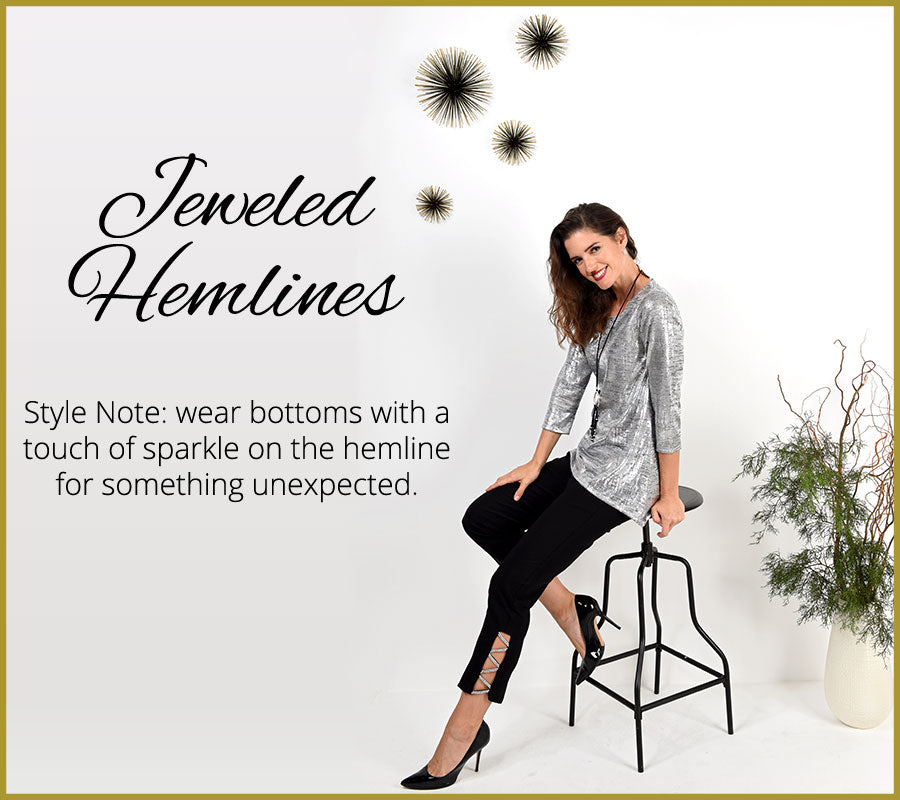 Jeweled Hemlines