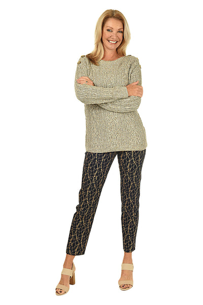 Krazy Larry Crackle Pull-On Ankle Pant