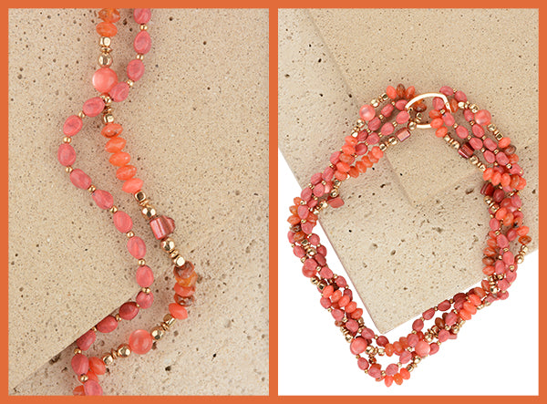 Coral Carol Dauplause Necklace