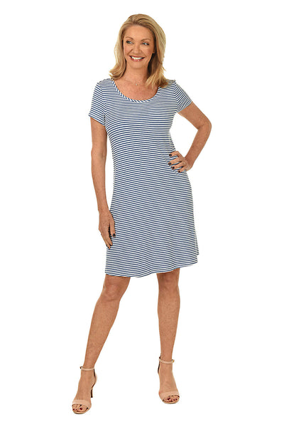 Stripe Textured Casual Dress