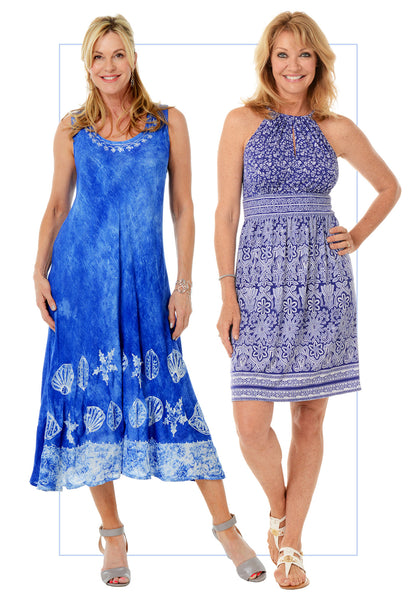 Summer Blues - Anthony's Breezy Dresses