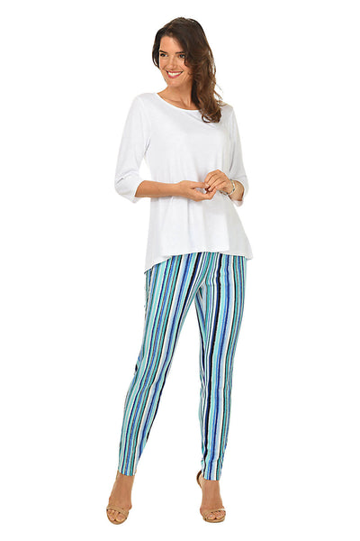 Seaside Stripe Pull-On Ankle Pant BY: ZAC AND RACHEL