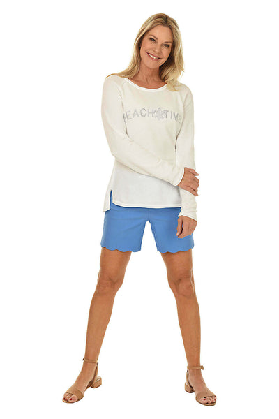 Anthony's Resort Wear Pull-On Stretch Scallop Short