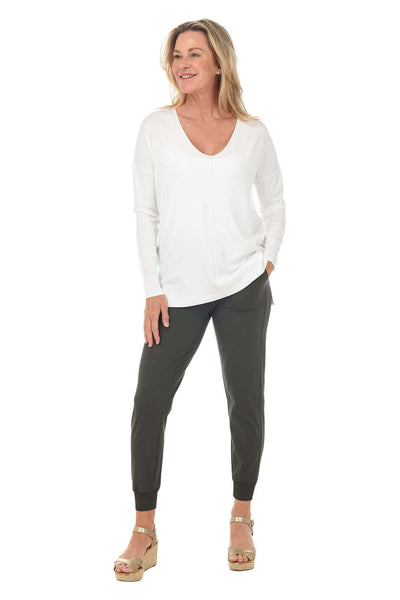 Zac and Rachel Solid Ankle-Length Jogger Pant