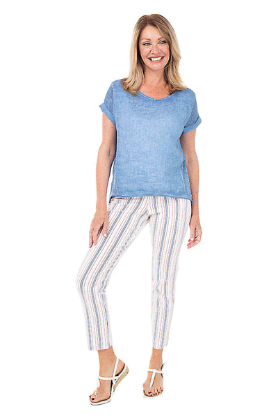 Krazy Larry Primary Pinstripe Pull-On Ankle Pant