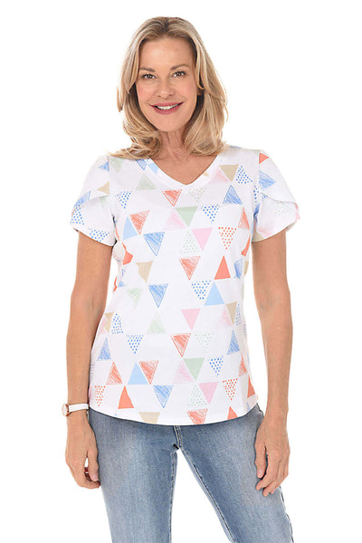 French Dressing Triangle Tulip Sleeve Tee