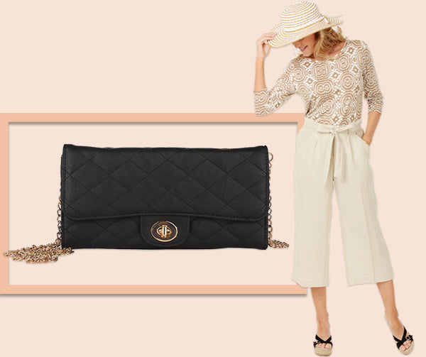 Spotlight on Small Handbag - Rebecca and Rifka Black Clutch