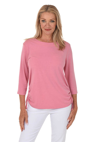 N Touch Classic Side Shirred Knit Top