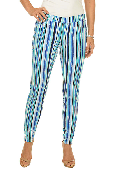 Zac and Rachel Seaside Stripe Pull-On Ankle Pant