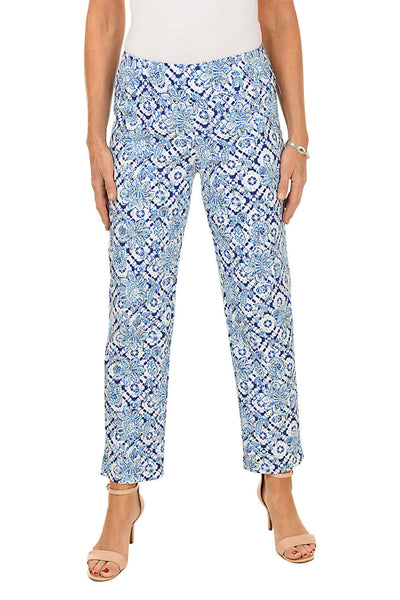 Zac and Rachel Floral Tie Dye Pull-On Ankle Pant