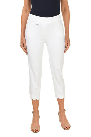 White French News Pull-On Ankle Pant