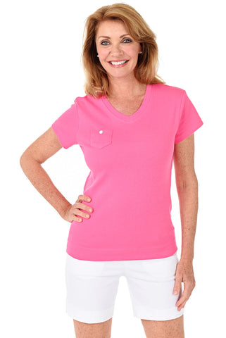 Valencia Mineral Wash Asymmetrical Stripe Trim Top