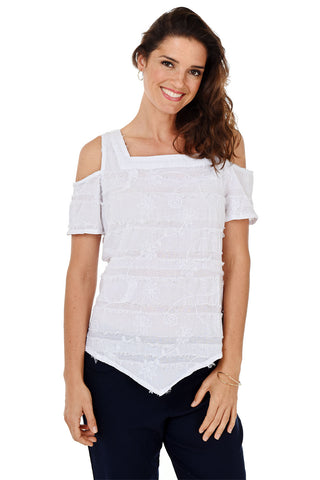 Asymmetrical Vintage Wash Knit Top