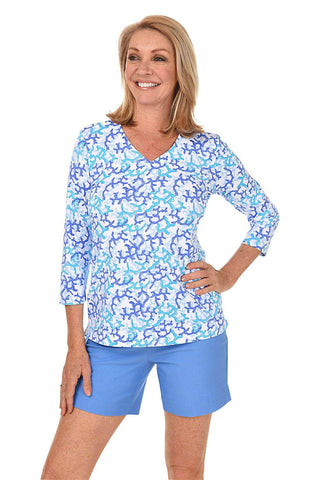 Basic Microfiber V-Neck Top