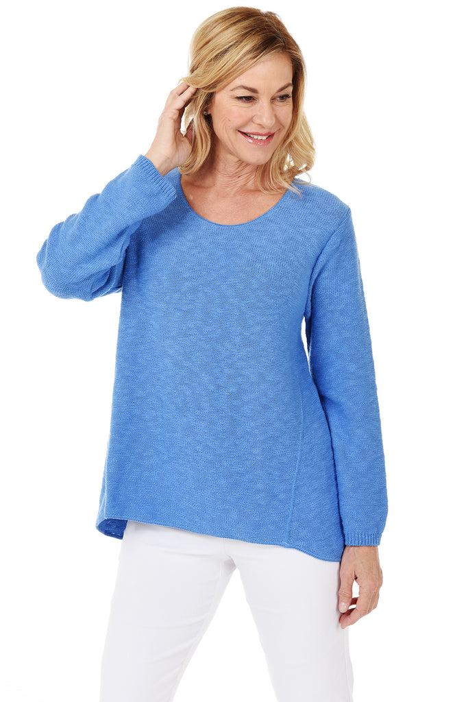 Avalin Classic Pullover Sweater 8671 - Front - Ocean