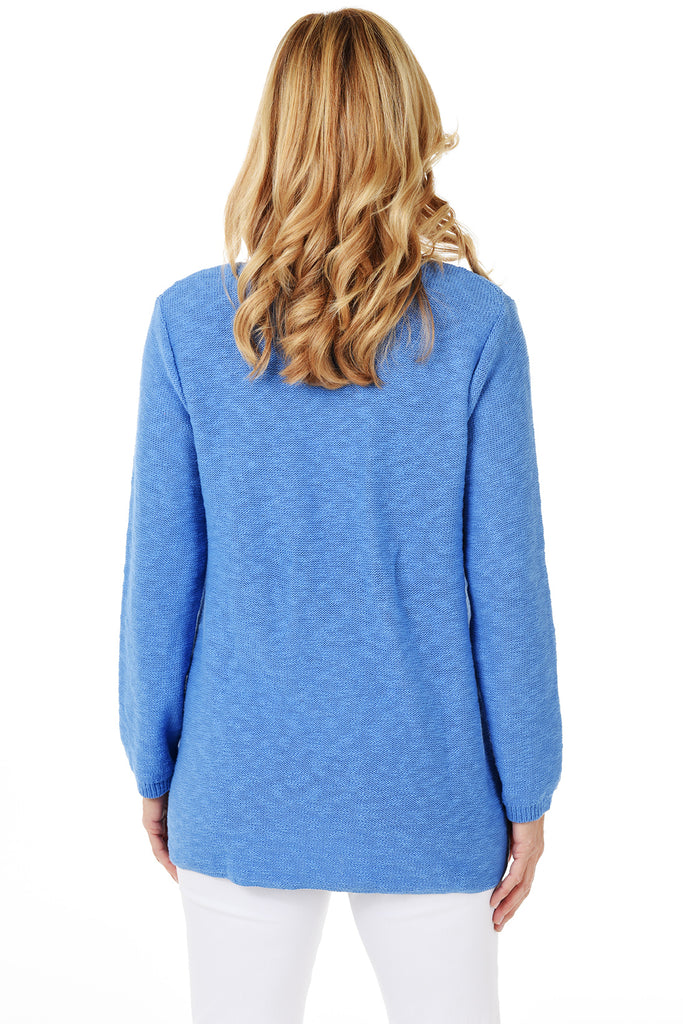 Avalin Classic Pullover Sweater 8671 - Back - Ocean