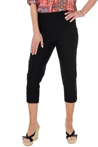 Pull-On Grommet Ankle Pant