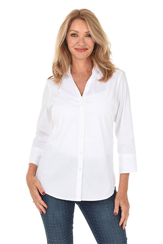 Sandy Button V- Neck Top