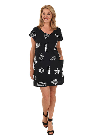 Medallion Ruffle UPF50+ Travel Dress