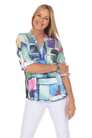 Faith Sunburst Patchwork Top