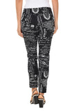 KRAZY LARRY Black French News Pull-On Ankle Pant