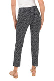 KRAZY LARRY Navy Cross Hatch Pull-On Ankle Pant
