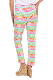 KRAZY LARRY White Paint Swatch Pull-On Ankle Pant