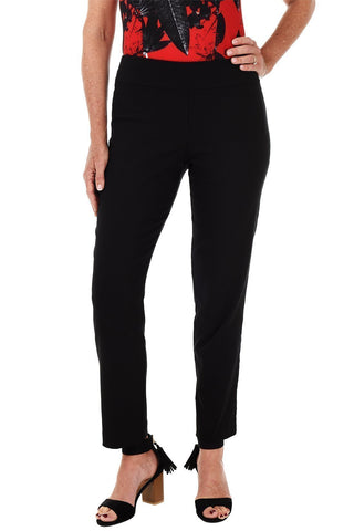 Crest Button-Pocket Pull-On Capri Pant