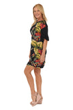 Tropical Ruffle Sleeve Dress